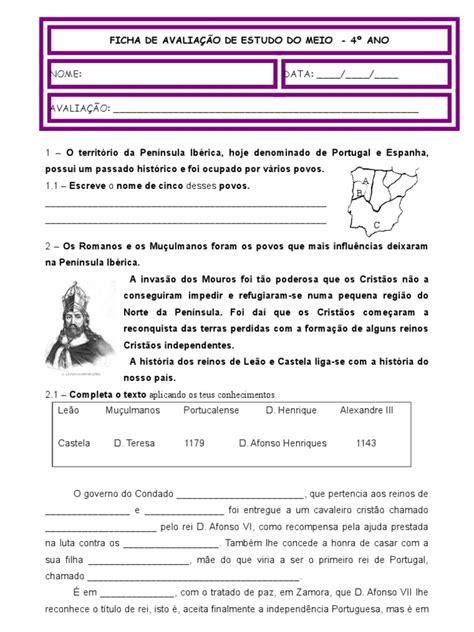 Ficha De História4ºano