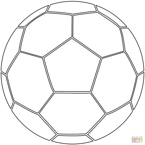 soccer ball coloring page  printable coloring pages