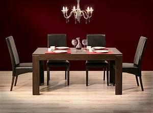 salle a manger moderne et sombre 50 idees elegantes With meuble salle À manger avec chaises salle À manger en cuir