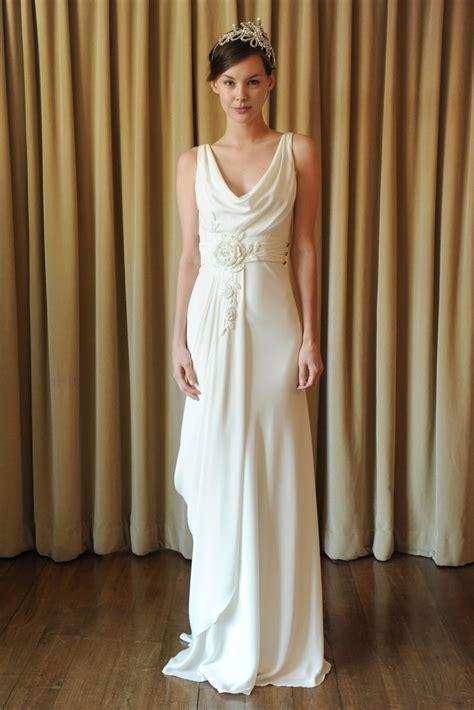 Draped Wedding Dresses - silk draped wedding dress temperley onewed