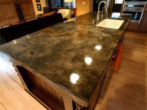 acid etched concrete counter tops design