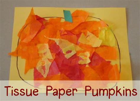 fabulous fall crafts mamas learning corner 295 | Tissue Paper Pumpkin Graphic