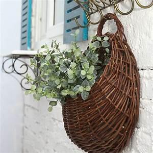 Aliexpress buy new rattan flower baskets wall decor