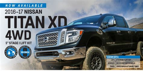 nissan titan xd wd   stage  lift kit