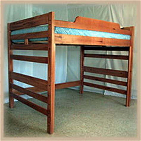 wooden loft beds aspen hardwood loft bed ru rm