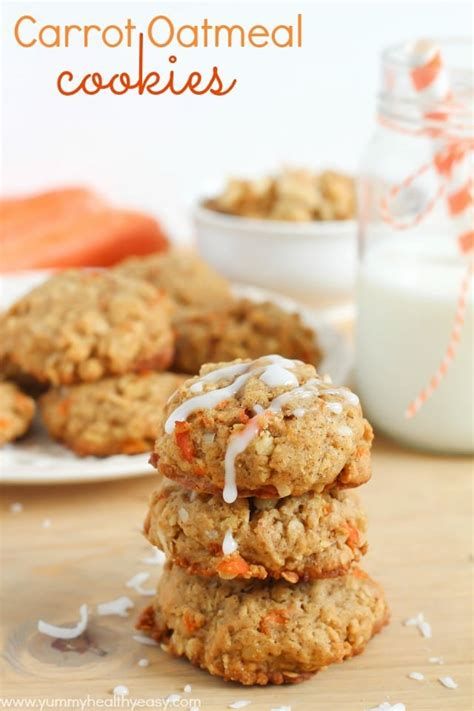 carrot oatmeal cookies yummy healthy easy