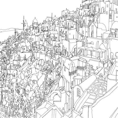 fantastic cities  exquisite architectural coloring book