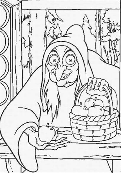 Witch Coloring Snow Pages Evil Queen Witches