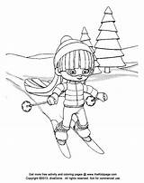 Coloring Skiing Skifahren Cartoon Clipart Kid Mogul Downhill Ausmalbilder Popular Template sketch template