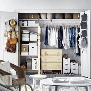 Dressing Ikea Angle : cr er dressing dans une petite pi ce le mode d 39 emploi marie claire ~ Teatrodelosmanantiales.com Idées de Décoration