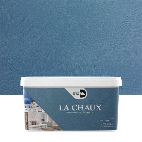 chaise blanche de cuisine peinture à effet la chaux maison grecque maison deco cyclades 2 5 l leroy merlin