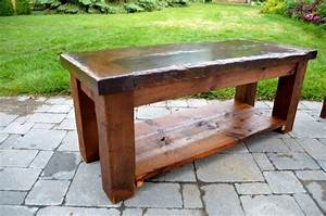 120 year old barn wood coffee tables by adam With coffee tables made from old barn wood