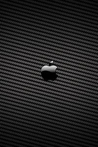 Carbon Fiber Apple Logo iPhone 4 Wallpaper and iPhone 4S ...