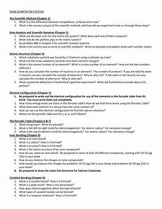 Study Guide For The Fall Final The Scientific Method