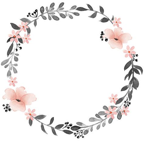 gray pink clipart watercolor wreath watercolor clipart etsy