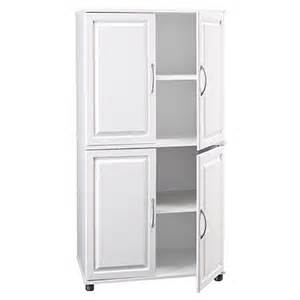 ameriwood white 4 door storage cabinet kitchen cabinets raised panel doors and