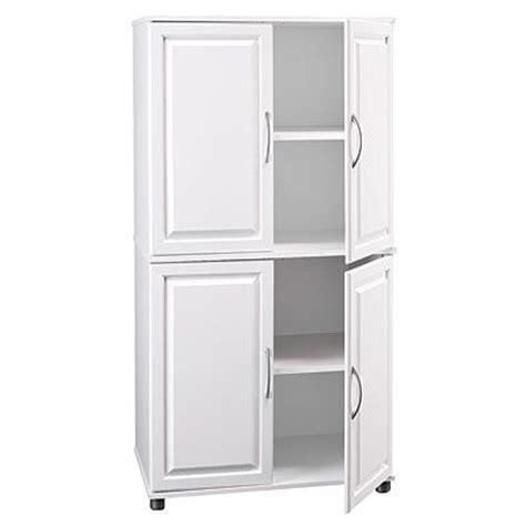 ameriwood white 4 door storage cabinet kitchen