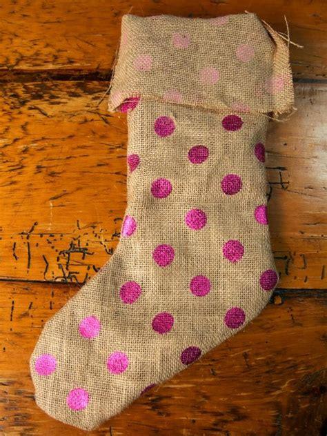 burlap christmas stockings  diy