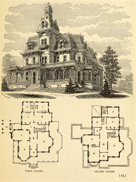 second empire house plans architectural drawings arch com