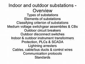 Indoor  U0026 Outdoor Substations  An Overview