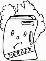 Coloring Fridge Colouring Appliances Printable Refrigerator Repair Kb Coloringpages101 Refrigerators sketch template