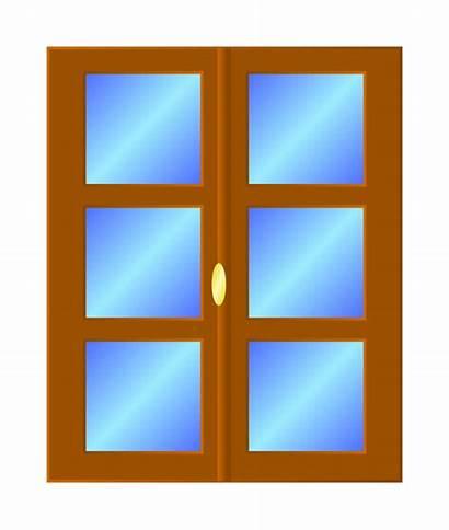 Window Clipart Cartoon Clip Windows Door Pane