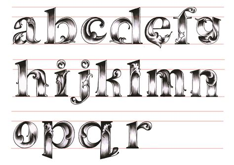 alphabet letters in different styles 17 different types of fonts alphabetical images