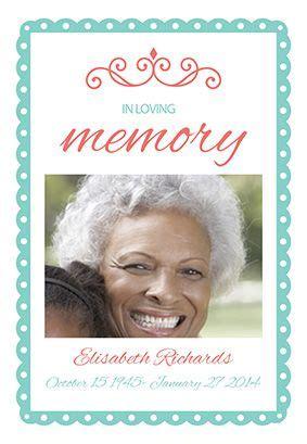 loving memory memorial card template