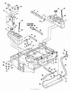 Bunton  Bobcat  Ryan 642214a 2200es 20hp B U0026s W  52 Side Discharge Parts Diagram For Fuel Tanks