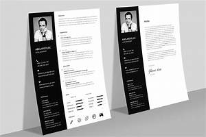 Professional Letter Template Word Classy Black White Resume Cv Template With Cover