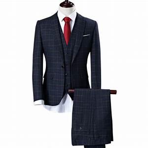 jacketvestpants men slim fit suits plus size mens white With costume homme a carreaux