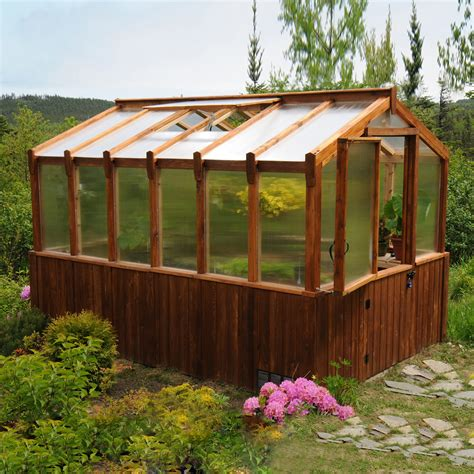 Backyard Greenhouses For Sale by Outdoor Living Today 8 Ft X 12 Ft Cedar Greenhouse Lowe