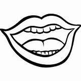 Coloring Mouth Tongue Printable Talk источник Uploaded sketch template