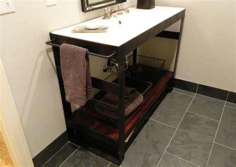 denver colorado industrial modern bathroom vanity