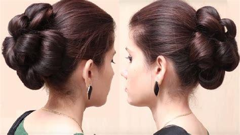 Flower Bun Hairstyle For Girls
