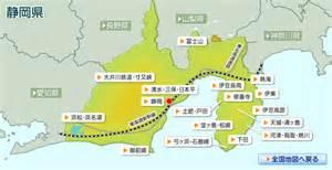 静岡県:静岡県の地図