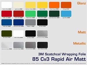 3m Car Wrapping Folie : 3m scotchcal wrapping folie farbuebersicht wegaswerbung ~ Kayakingforconservation.com Haus und Dekorationen