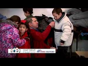 Coat Drive for Kids - Tire Factory - YouTube