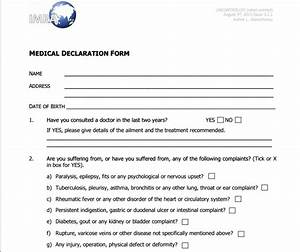 Medical declaration form templates free printable for Next of kin form template