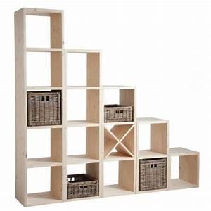 étagère Bois Brut : etag re cube en bois brut boisnature 39 l ~ Melissatoandfro.com Idées de Décoration