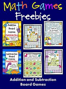 FREEBIES! Addition and Subtraction Math Board Games - Just ...