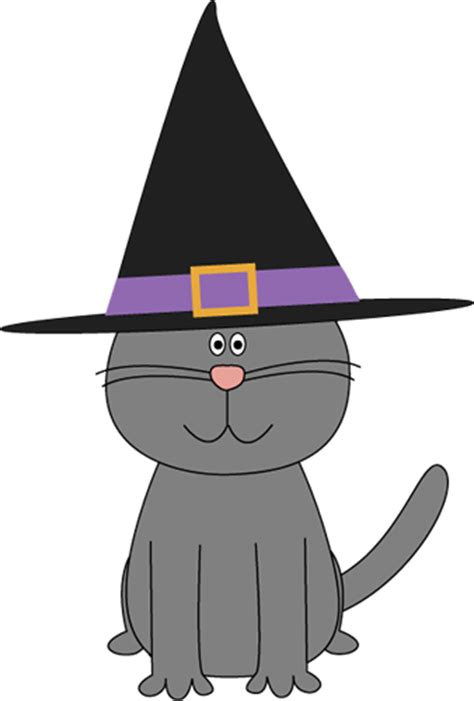 Cute Halloween Cat Clip Art