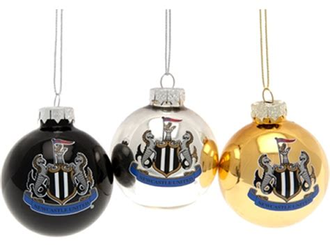 xnwc09 newcastle united christmas baubles other items
