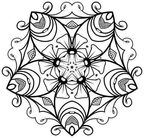 onlinelabels clip art black white floral design
