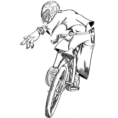 Bmx Kleurplaat by Bmx Coloring Page Coloring Home