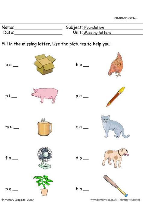 nursery foundation printable resources  worksheets