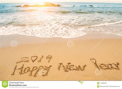 Love Happy New Year 2019 Stock Image. Image Of Handwriting