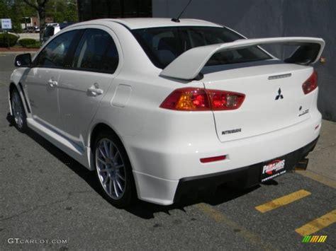 lancer mitsubishi white wicked white 2008 mitsubishi lancer evolution gsr exterior