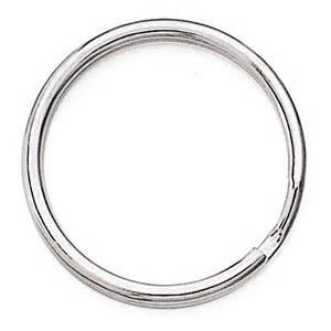 base metal split ring key ring