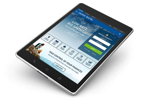 mobile banking tablet banking  banking zions bank